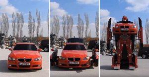 Este BMW se transforma en un verdadero robot