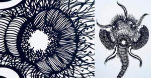 Aunque no parezca, estas creaciones fueron cortadas a mano y son de papel