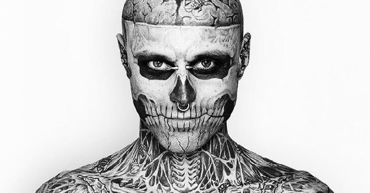 Conoce a Rick Genest, el hombre con más tatuajes en el mundo