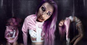 Cuando de hacer un maquillaje horroroso se trata, nada mejor que la habilidad de esta artista