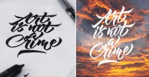 El arte de dibujar letras por el colombiano Pellisco