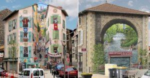 Este artista transforma las viejas paredes de edificios en murales 3D que juegan con la realidad