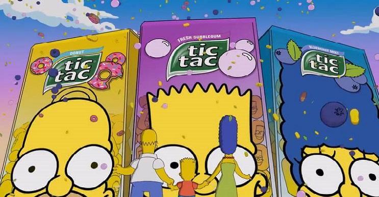 Tic Tac presenta nueva edición de Los Simpson