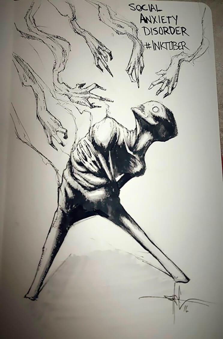 un-artista-nos-muestra-impactantes-ilustraciones-de-enfermedades-mentales-que-muestran-una-clara-realidad-1