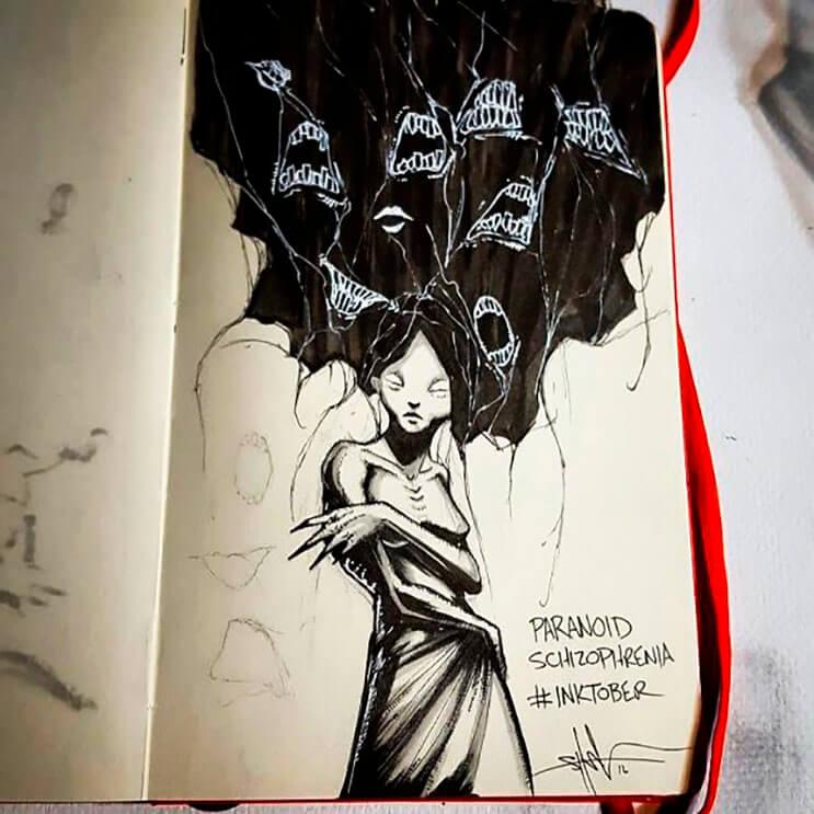 un-artista-nos-muestra-impactantes-ilustraciones-de-enfermedades-mentales-que-muestran-una-clara-realidad-10