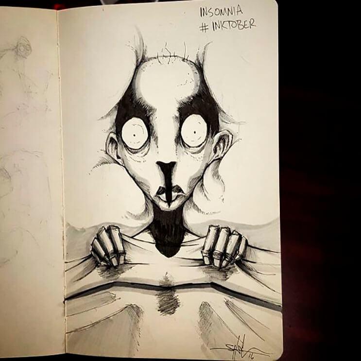 un-artista-nos-muestra-impactantes-ilustraciones-de-enfermedades-mentales-que-muestran-una-clara-realidad-11