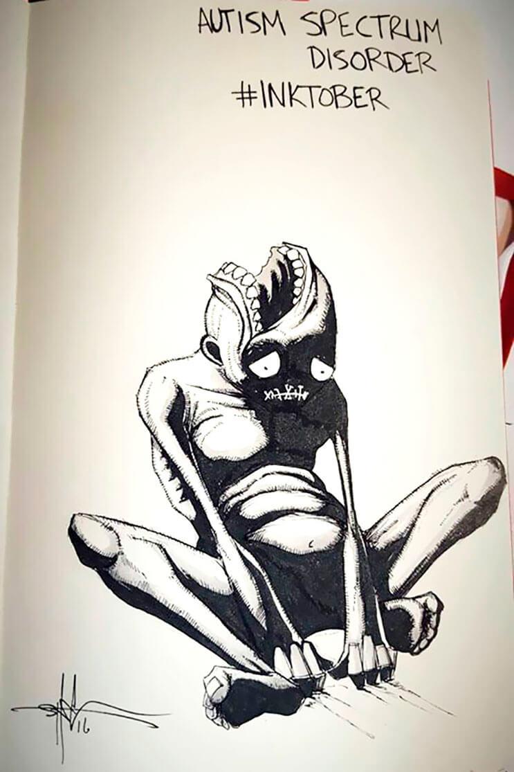 un-artista-nos-muestra-impactantes-ilustraciones-de-enfermedades-mentales-que-muestran-una-clara-realidad-2