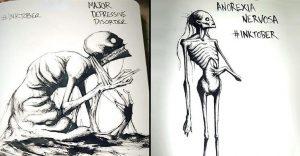 Un artista nos muestra impactantes ilustraciones de enfermedades mentales que muestran una clara realidad