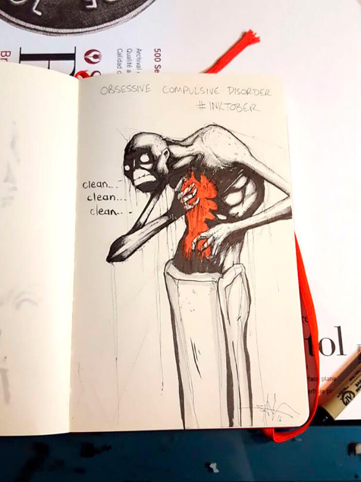 un-artista-nos-muestra-impactantes-ilustraciones-de-enfermedades-mentales-que-muestran-una-clara-realidad-4