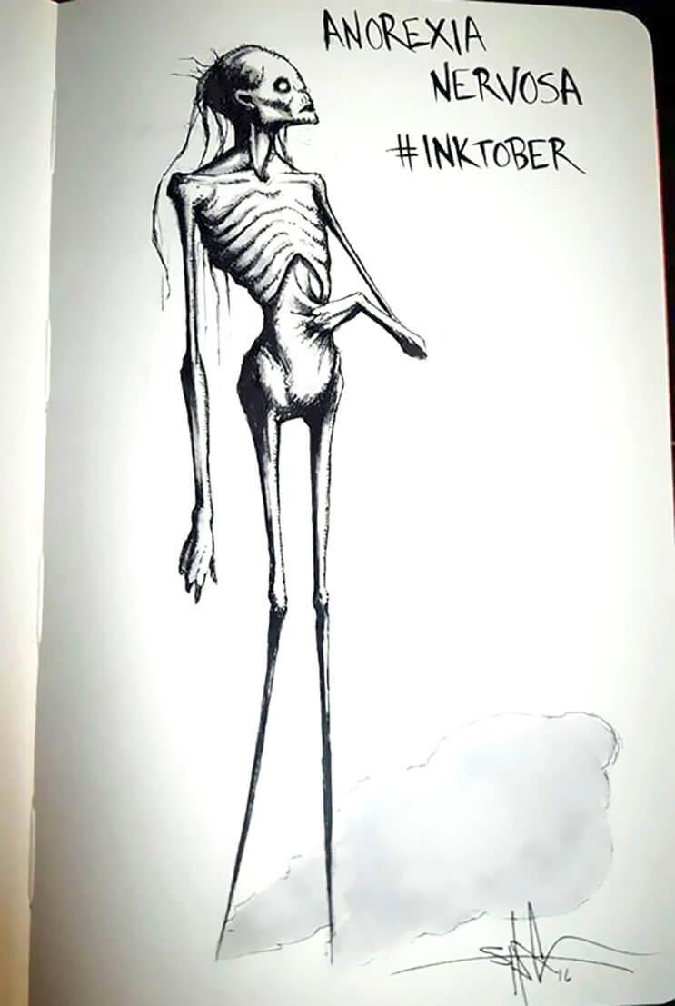 un-artista-nos-muestra-impactantes-ilustraciones-de-enfermedades-mentales-que-muestran-una-clara-realidad-5
