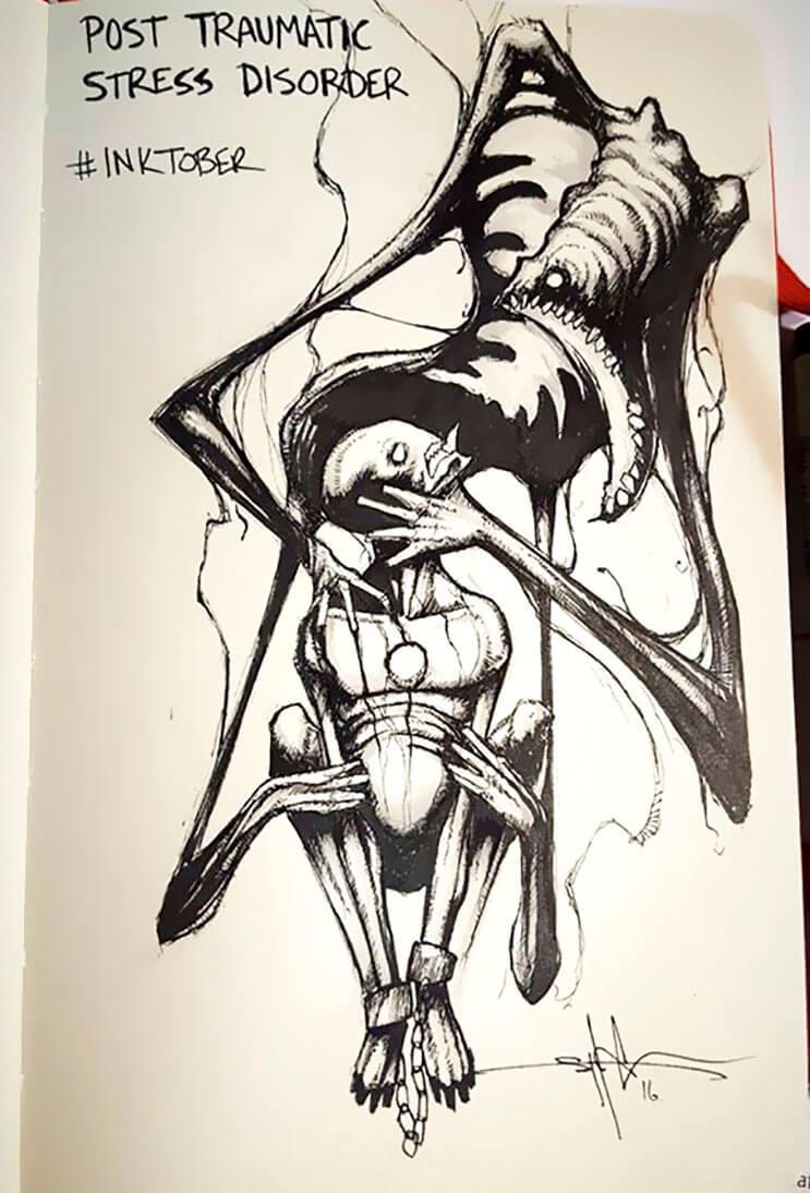 un-artista-nos-muestra-impactantes-ilustraciones-de-enfermedades-mentales-que-muestran-una-clara-realidad-6
