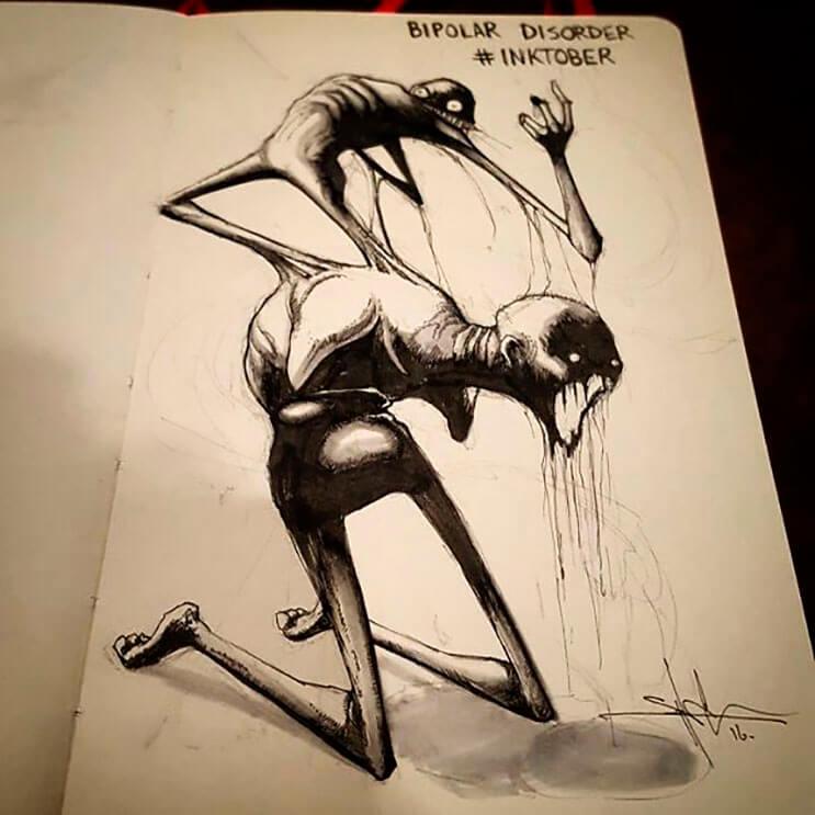 un-artista-nos-muestra-impactantes-ilustraciones-de-enfermedades-mentales-que-muestran-una-clara-realidad-8