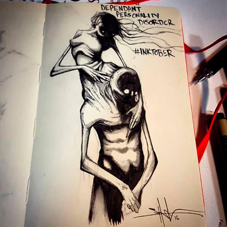 un-artista-nos-muestra-impactantes-ilustraciones-de-enfermedades-mentales-que-muestran-una-clara-realidad-9