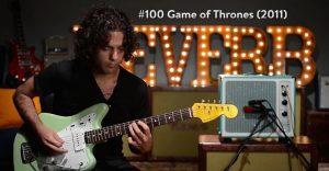 100 canciones de series de TV interpretadas con una guitarra eléctrica
