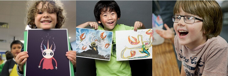 artistas-recrean-los-dibujos-de-ninos-con-mucho-color-y-estilo