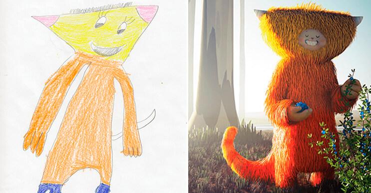 Artistas recrean los dibujos de niños con mucho color y estilo - mott.pe
