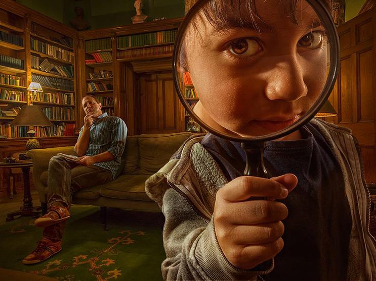 El fotógrafo Adrian Sommeling hace con su hijo divertidas escenas con Photoshop