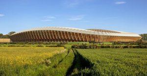 El primer estadio del mundo construido sólo con madera