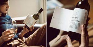 Esta botella de vino trae historias en su etiqueta para acompañar ese momento con lectura