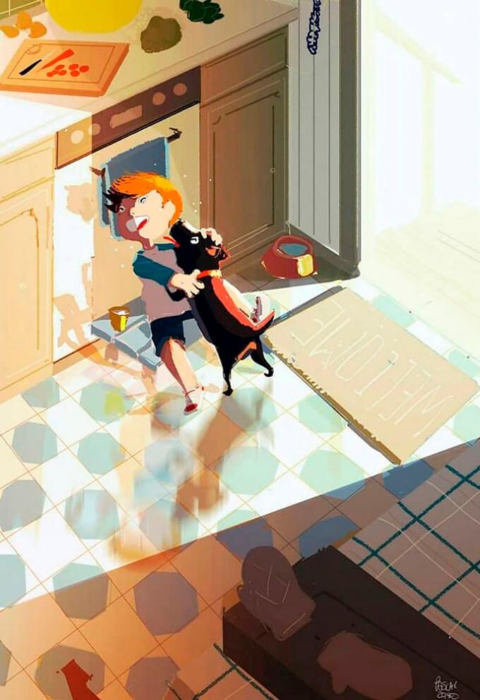 estas-ilustraciones-retratan-de-una-bella-manera-el-amor-hacia-nuestras-las-mascotas-2