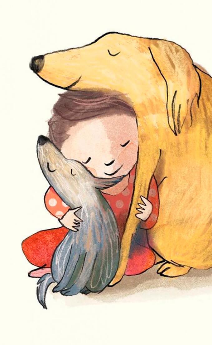 estas-ilustraciones-retratan-de-una-bella-manera-el-amor-hacia-nuestras-mascotas-11