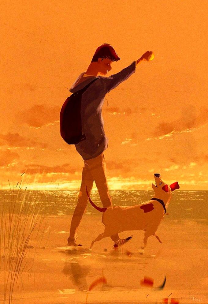estas-ilustraciones-retratan-de-una-bella-manera-el-amor-hacia-nuestras-mascotas-13