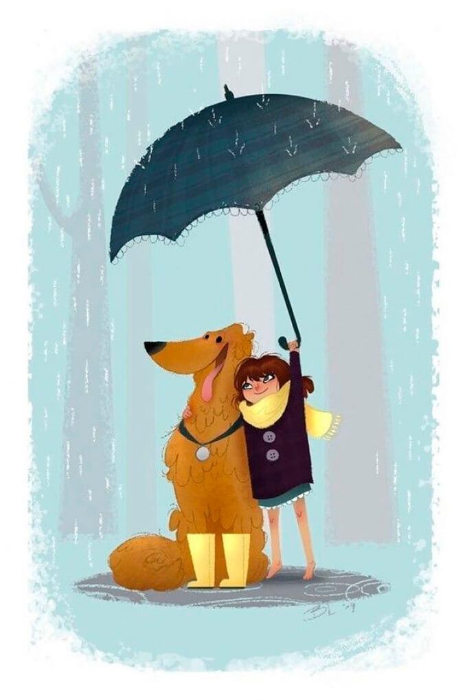 estas-ilustraciones-retratan-de-una-bella-manera-el-amor-hacia-nuestras-mascotas-4