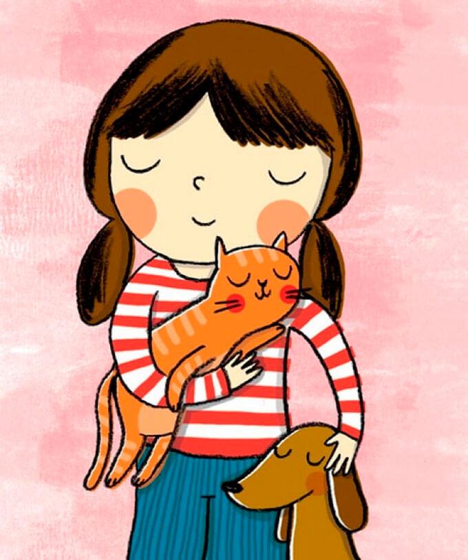 estas-ilustraciones-retratan-de-una-bella-manera-el-amor-hacia-nuestras-mascotas-7