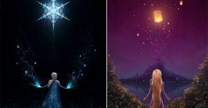 Estas imágenes rinden tributo al mundo de Disney y Dreamworks
