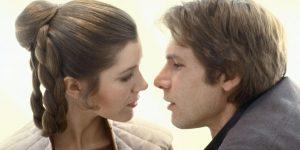 Han Solo y Leia y su romance más allá de las pantallas