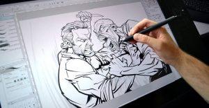Ilustraciones de personajes del cine y la televisión, hechas por el artista Patrick Brown