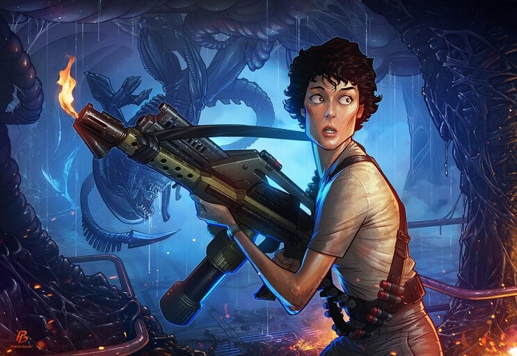 ilustraciones-de-personajes-del-cine-y-la-television-hechas-por-el-artista-patrick-brown-alien