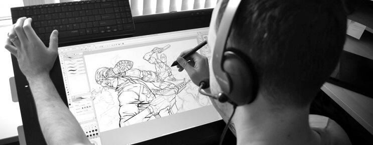 ilustraciones-de-personajes-del-cine-y-la-television-hechas-por-el-artista-patrick-brown-deadpool-plano