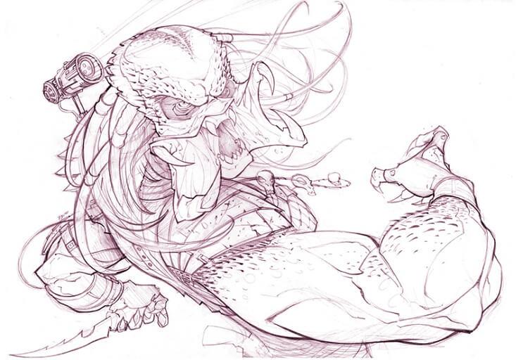 ilustraciones-de-personajes-del-cine-y-la-television-hechas-por-el-artista-patrick-brown-depredador-plano