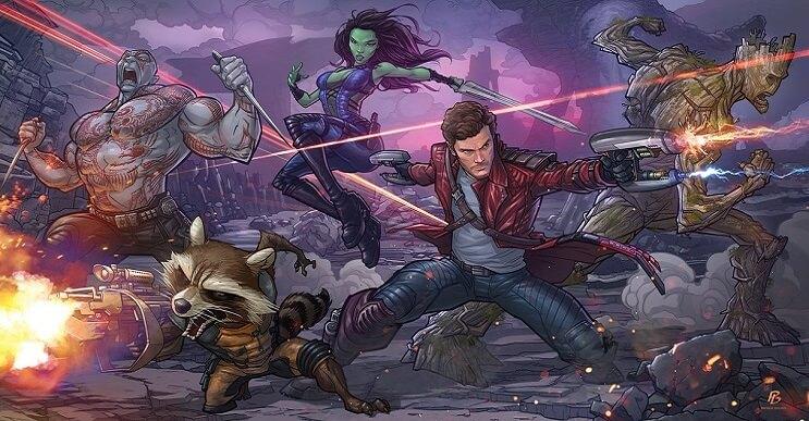 ilustraciones-de-personajes-del-cine-y-la-television-hechas-por-el-artista-patrick-brown-guardianes-de-la-galaxia