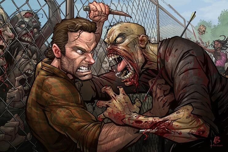 ilustraciones-de-personajes-del-cine-y-la-television-hechas-por-el-artista-patrick-brown-the-walking-dead