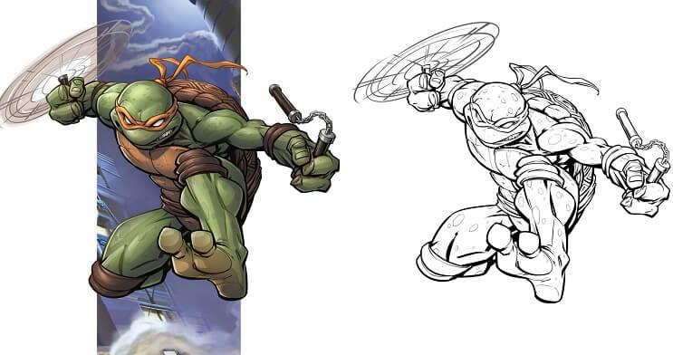 ilustraciones-de-personajes-del-cine-y-la-television-hechas-por-el-artista-patrick-brown-tmnt