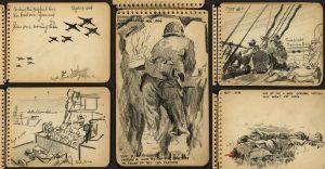 La II Guerra Mundial vista desde el libro de dibujos de un arquitecto que estuvo ahí presente