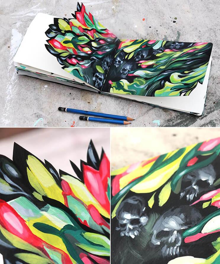 lo-que-el-artista-dominic-damien-hace-con-estos-cuadernos-los-sorprendera-7