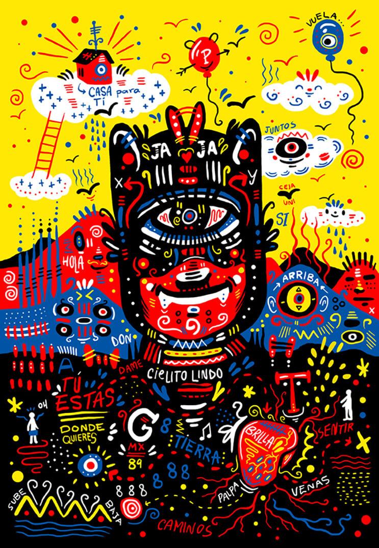 Vibrantes ilustraciones del diseñador gráfico Luis Pinto
