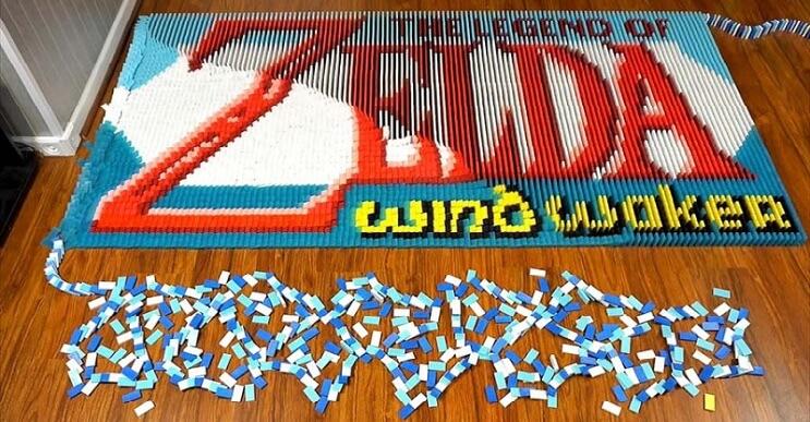 Un fanático de Zelda hizo la más divertida animación con fichas de dominó