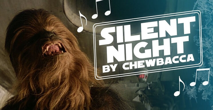 A Chewbacca se le pegó el espíritu de la navidad y lo celebra cantando un villancico