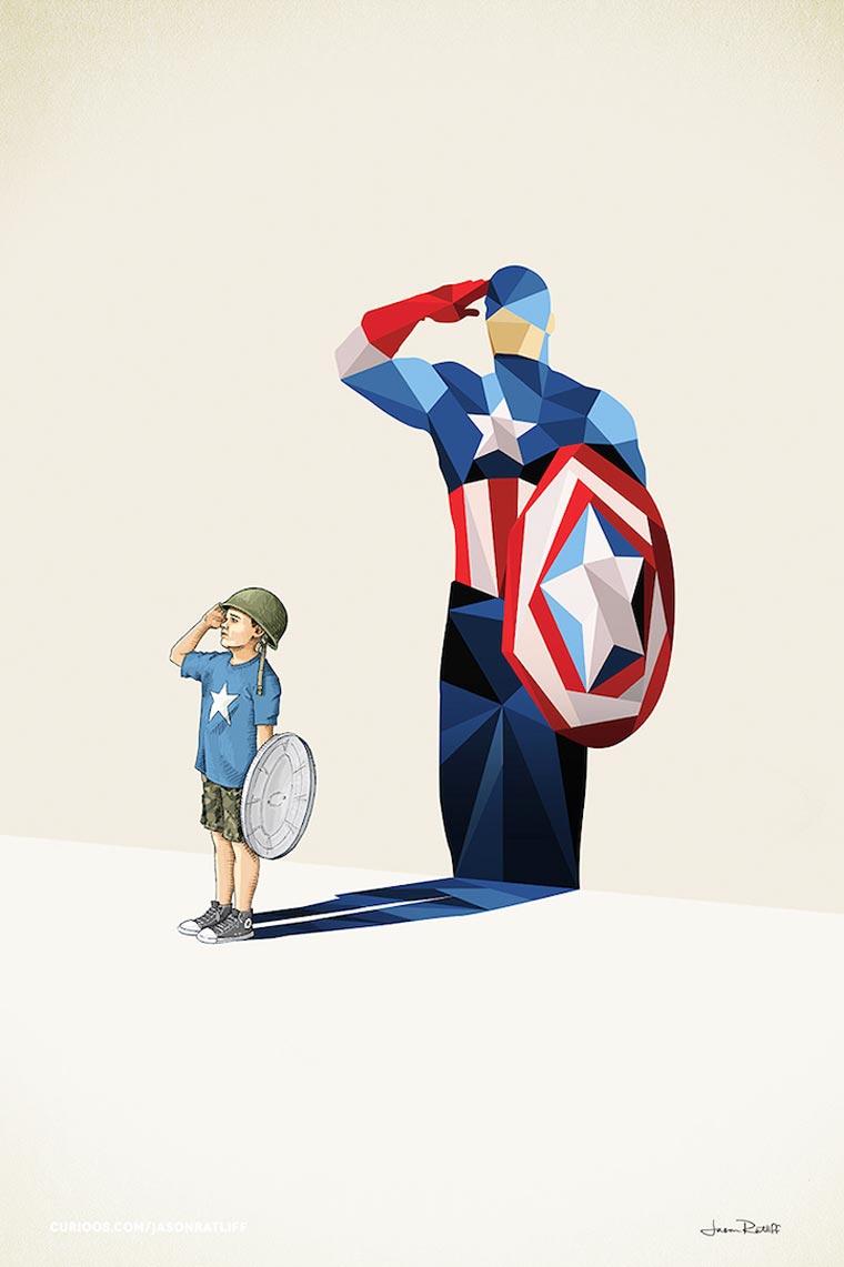 asombrosas-ilustraciones-con-lo-que-muchos-ninos-quisieran-ser-capitan-america