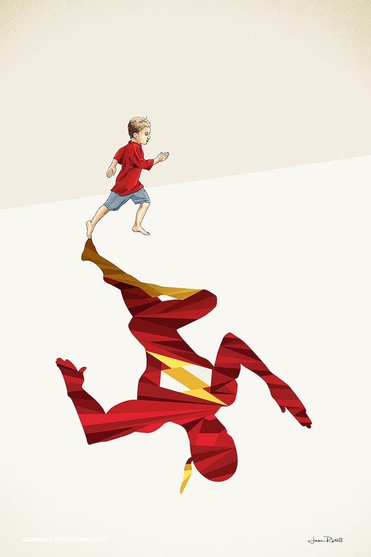 asombrosas-ilustraciones-con-lo-que-muchos-ninos-quisieran-ser-flash