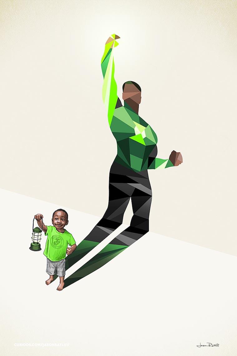 asombrosas-ilustraciones-con-lo-que-muchos-ninos-quisieran-ser-linterna-verde