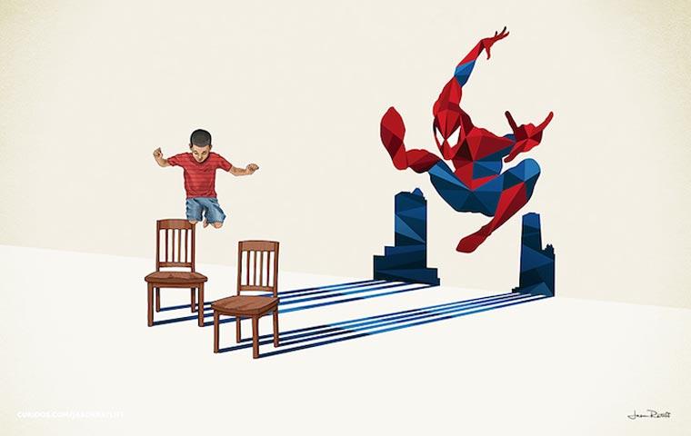 asombrosas-ilustraciones-con-lo-que-muchos-ninos-quisieran-ser-spiderman