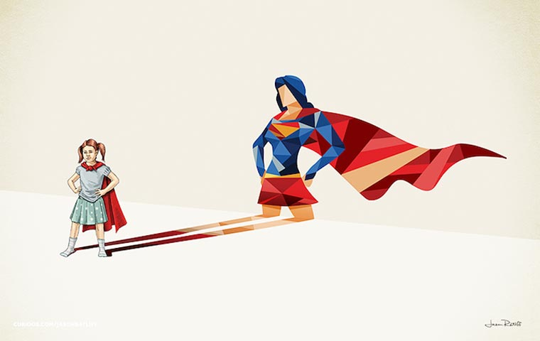 asombrosas-ilustraciones-con-lo-que-muchos-ninos-quisieran-ser-super-girl