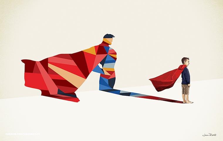 asombrosas-ilustraciones-con-lo-que-muchos-ninos-quisieran-ser-superman
