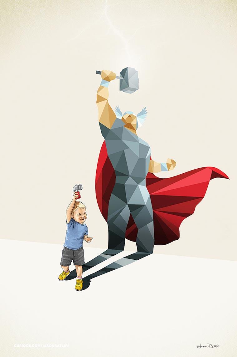 asombrosas-ilustraciones-con-lo-que-muchos-ninos-quisieran-ser-thor