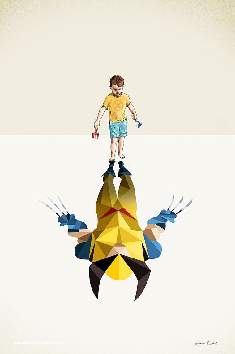 asombrosas-ilustraciones-con-lo-que-muchos-ninos-quisieran-ser-wolverine